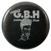 G.B.H. - 'Leather, Bristles, Studs & Acne' Button Badge